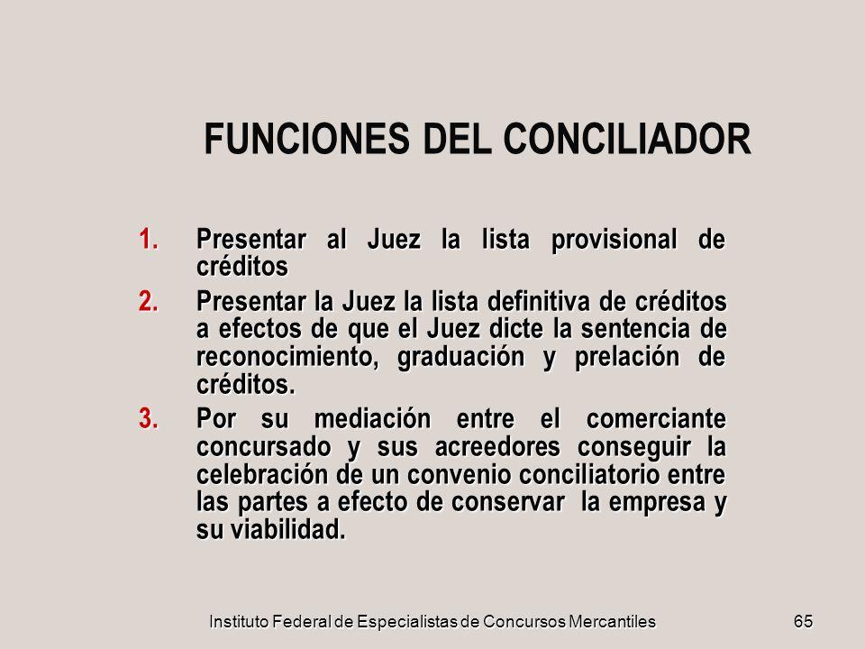 FUNCIONES DEL CONCILIADOR