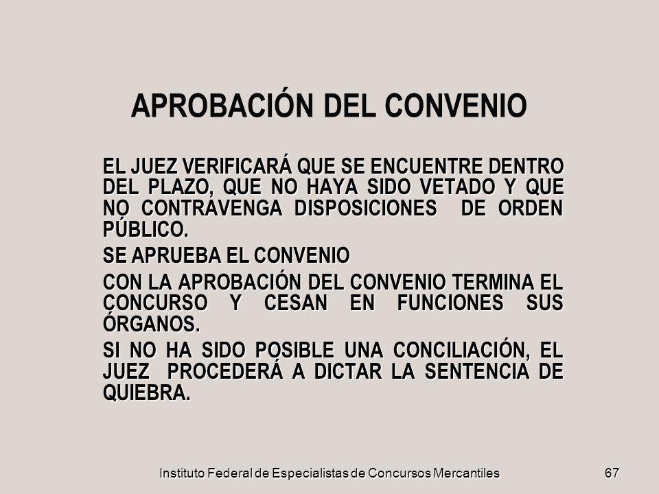 APROBACIÓN DEL CONVENIO