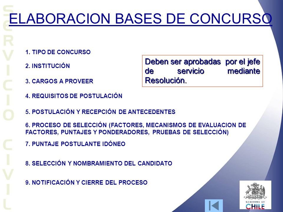 ELABORACION BASES DE CONCURSO