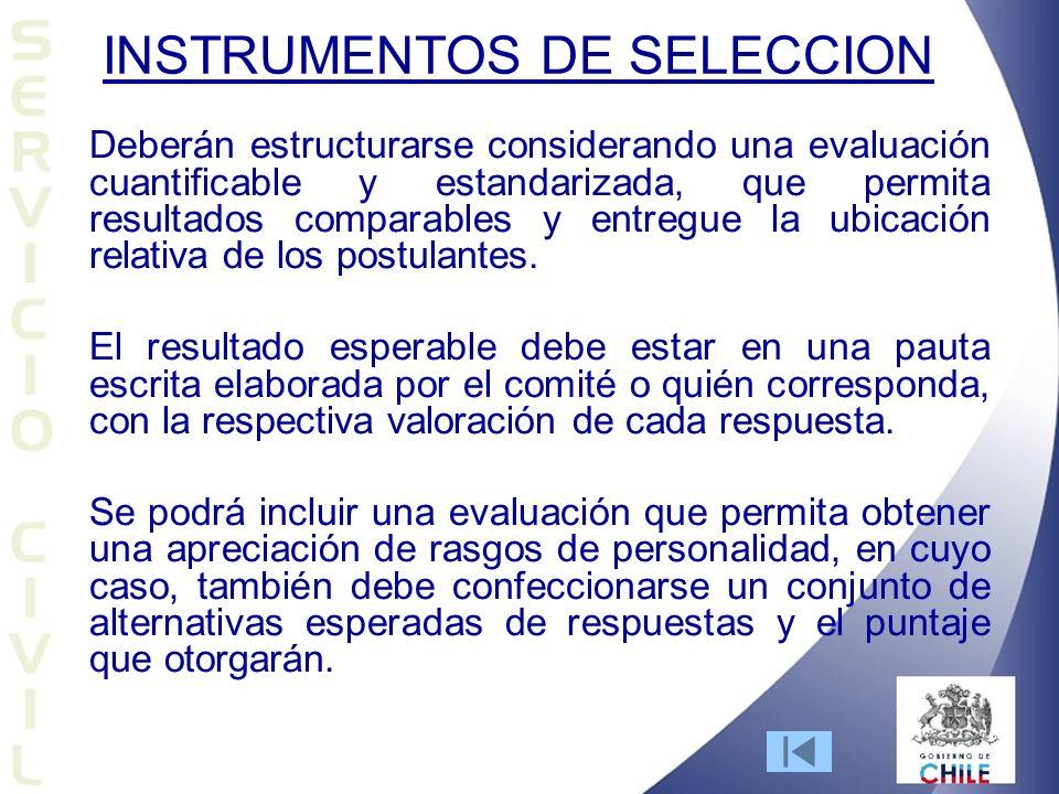 INSTRUMENTOS DE SELECCION