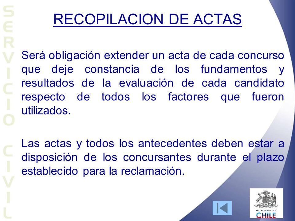 RECOPILACION DE ACTAS