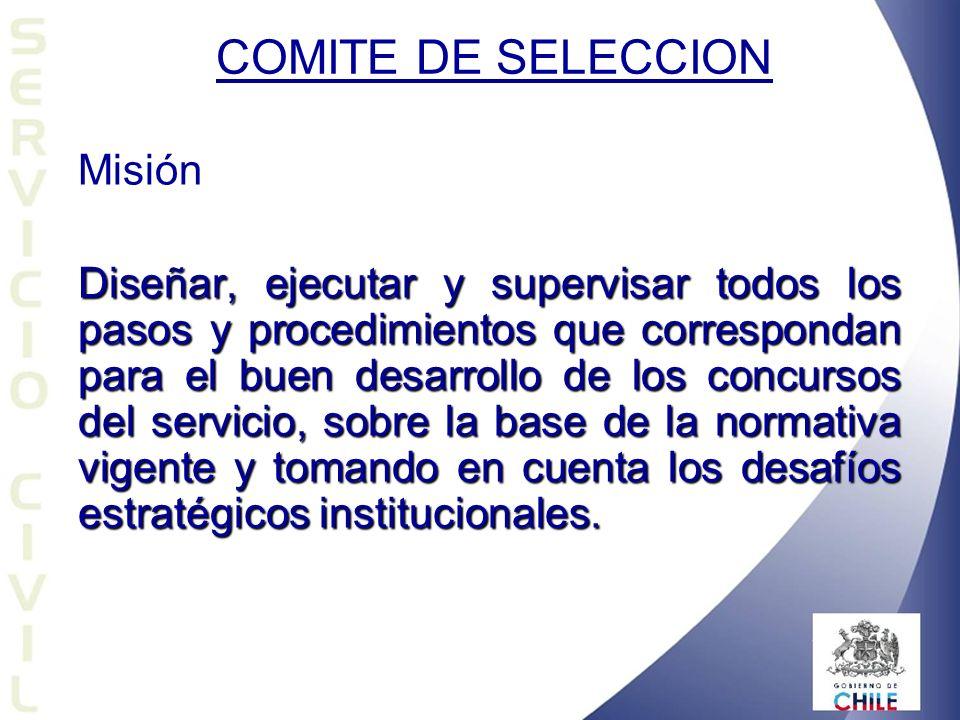 COMITE DE SELECCION Misión