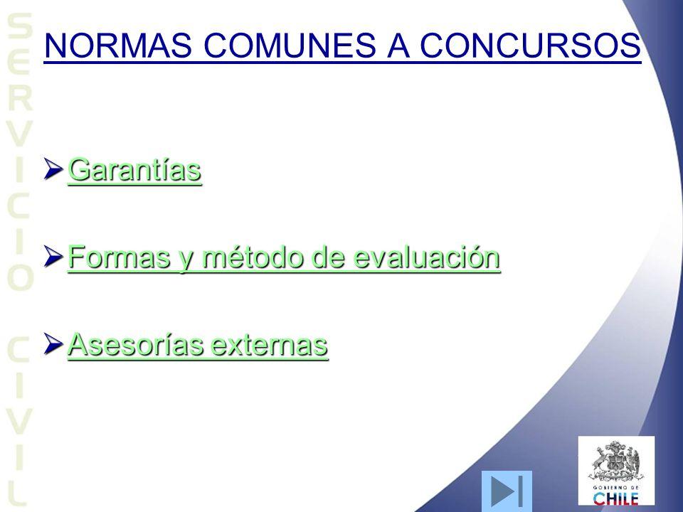NORMAS COMUNES A CONCURSOS