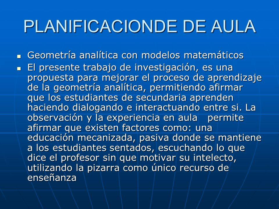 PLANIFICACIONDE DE AULA