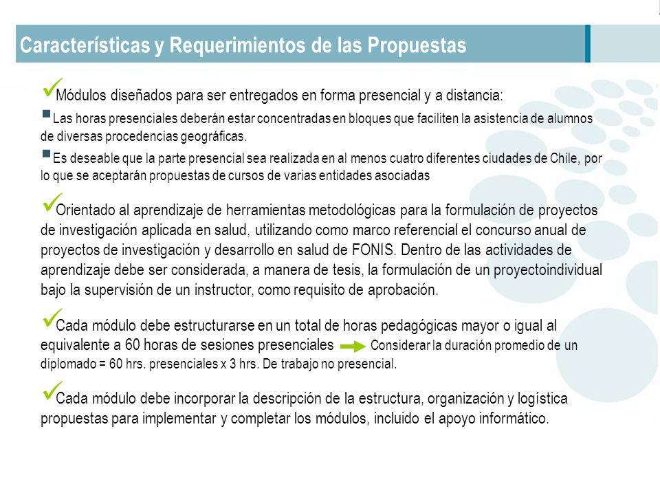 Características y Requerimientos de las Propuestas