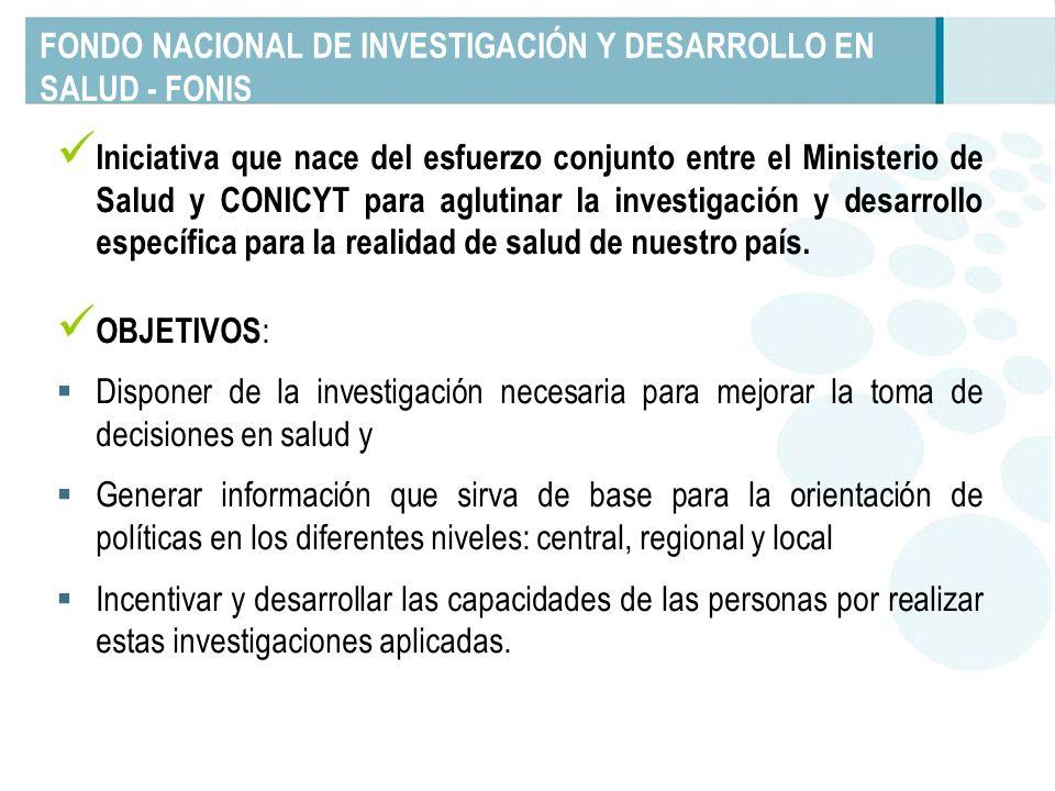 FONDO NACIONAL DE INVESTIGACIÓN Y DESARROLLO EN SALUD - FONIS