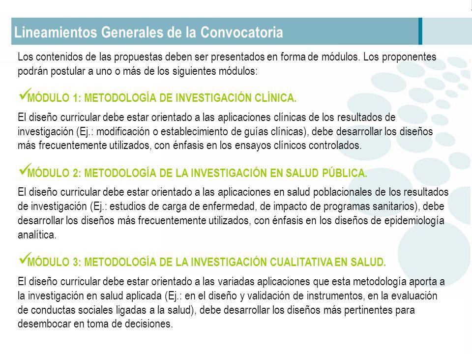 Lineamientos Generales de la Convocatoria