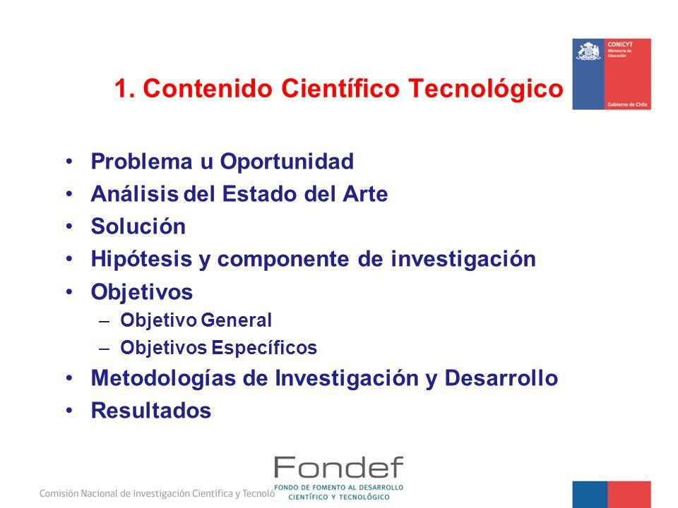 1. Contenido Científico Tecnológico