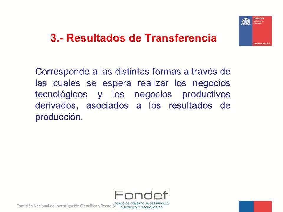 3.- Resultados de Transferencia