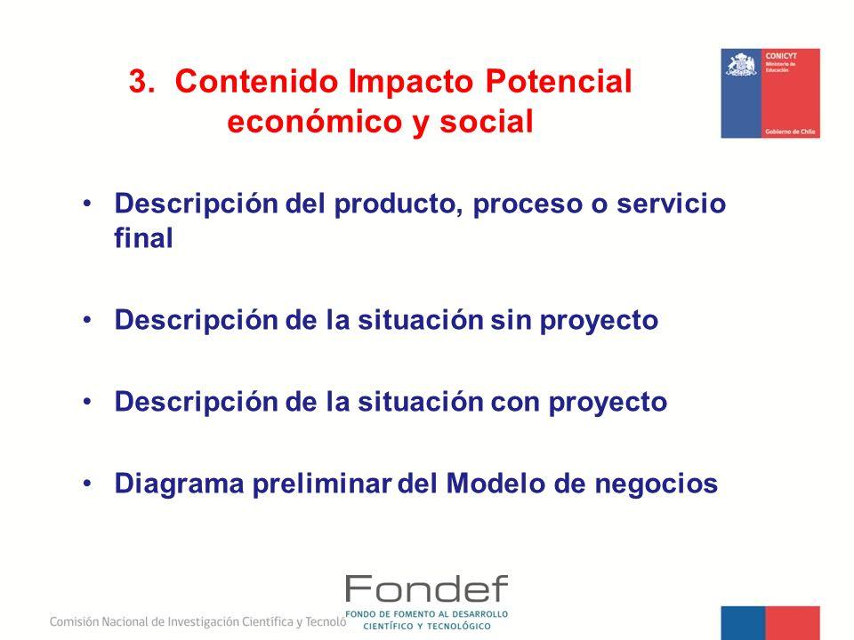 3. Contenido Impacto Potencial económico y social