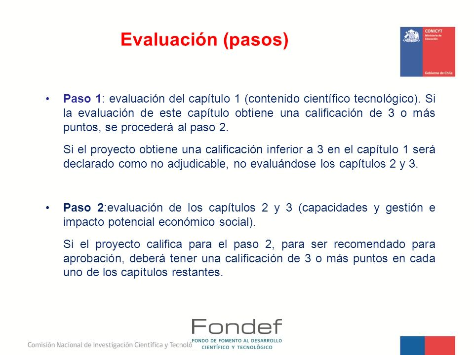 Evaluación (pasos)