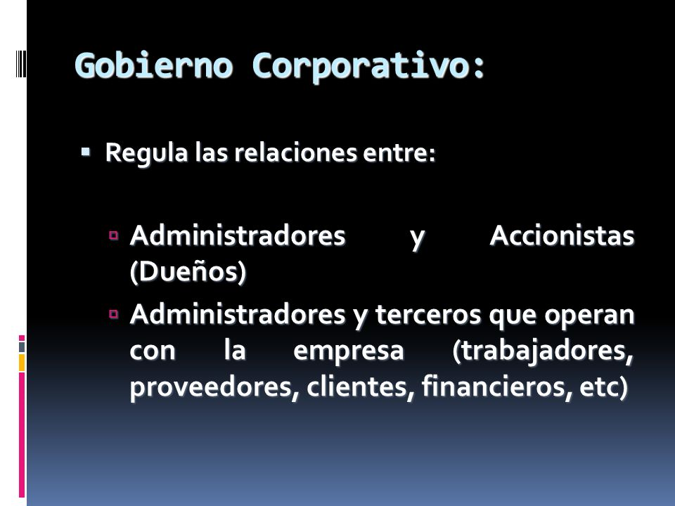 Gobierno Corporativo: