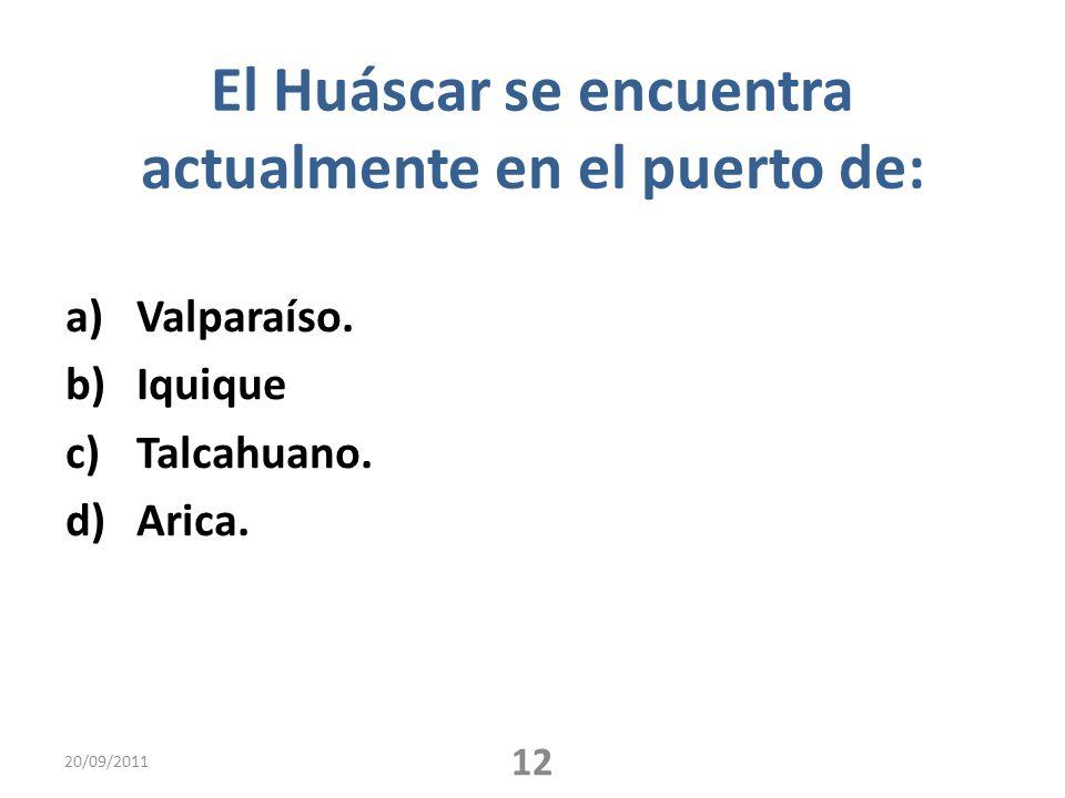 El Huáscar se encuentra actualmente en el puerto de: