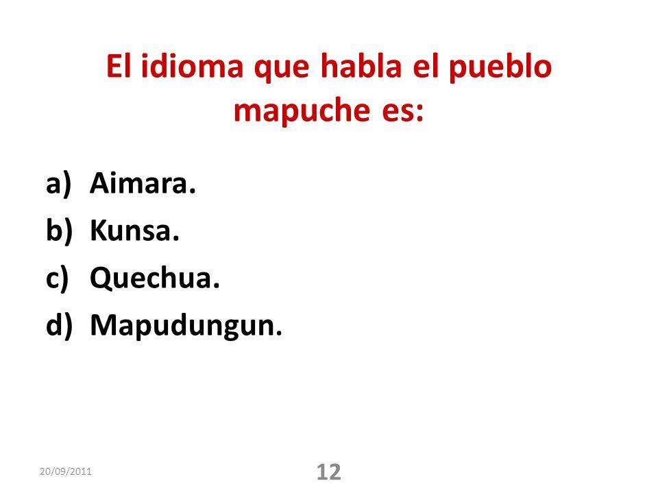 El idioma que habla el pueblo mapuche es: