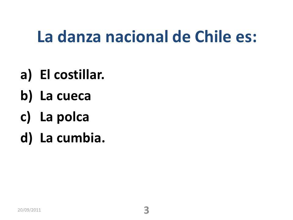 La danza nacional de Chile es:
