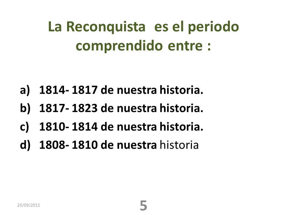 La Reconquista es el periodo comprendido entre :