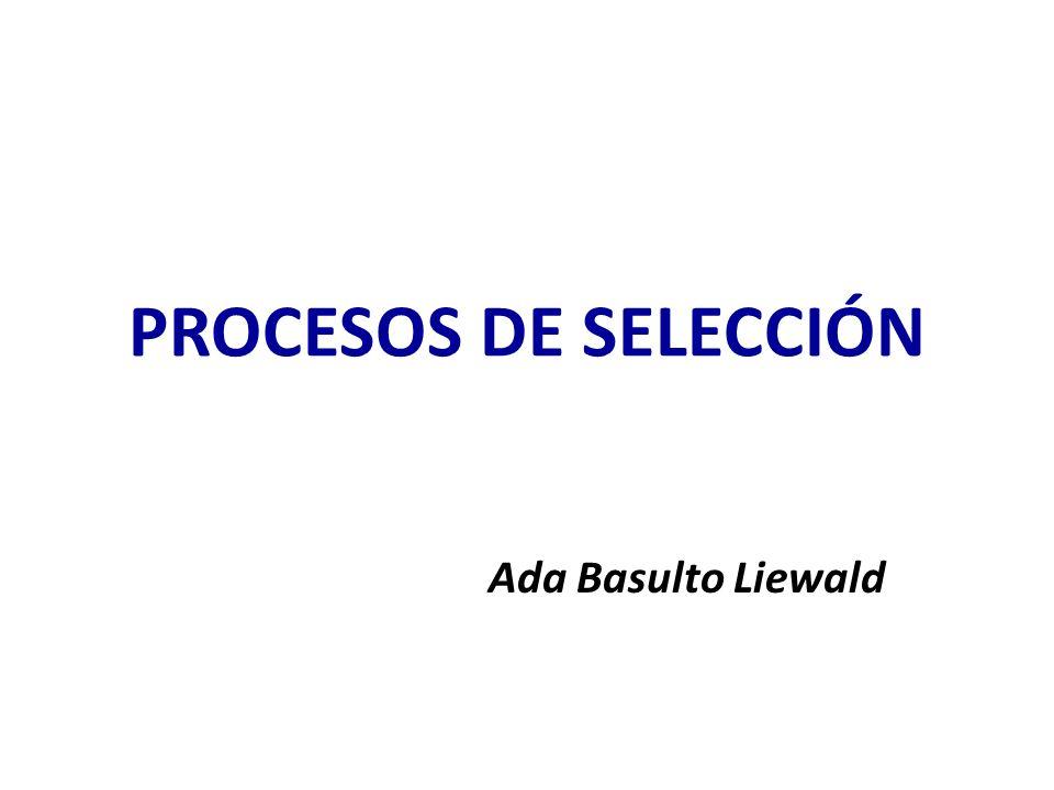PROCESOS DE SELECCIÓN Ada Basulto Liewald