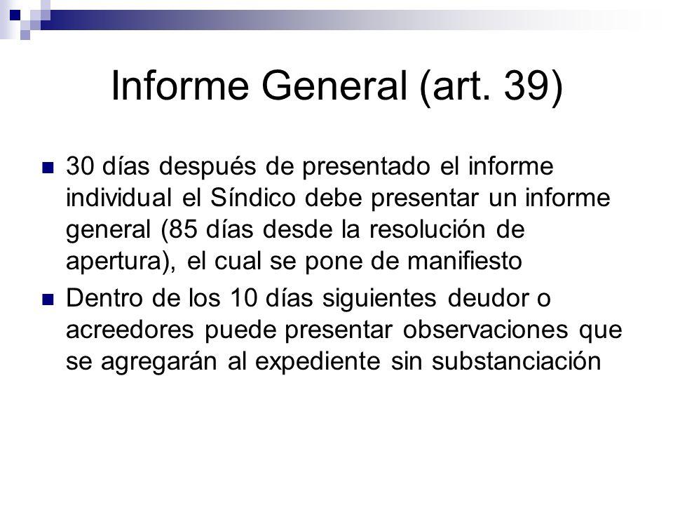 Informe General (art. 39)