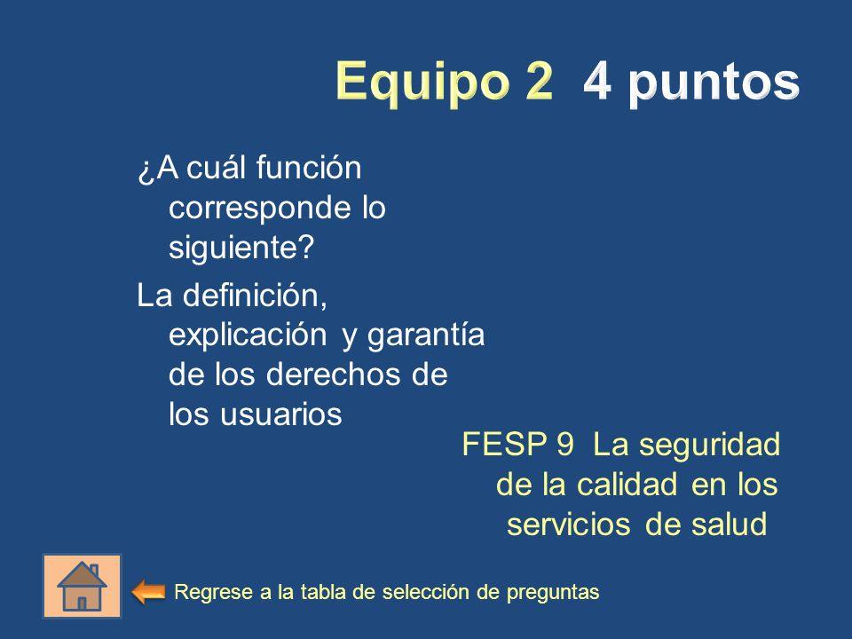 FESP 9 La seguridad de la calidad en los servicios de salud