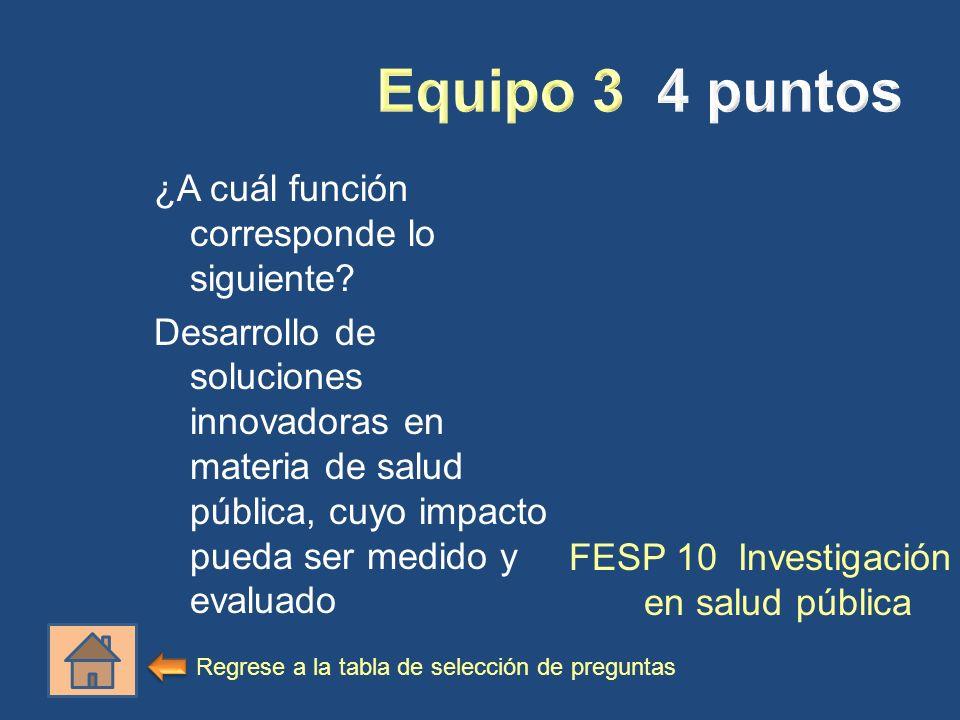 FESP 10 Investigación en salud pública