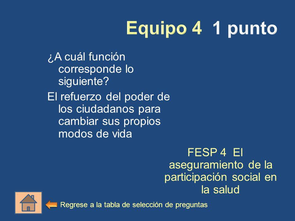 FESP 4 El aseguramiento de la participación social en la salud