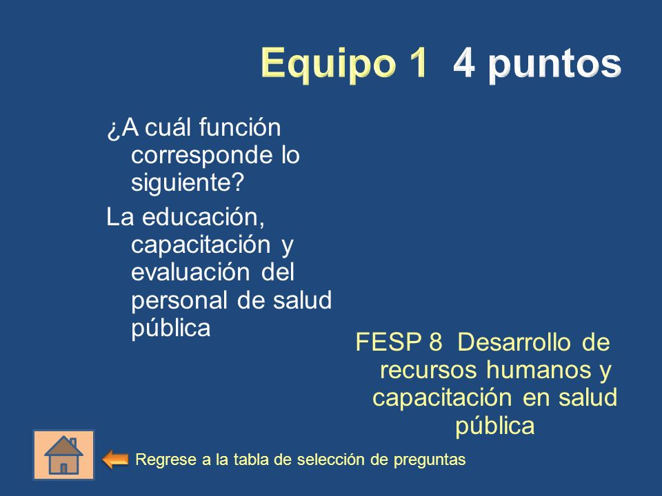 FESP 8 Desarrollo de recursos humanos y capacitación en salud pública