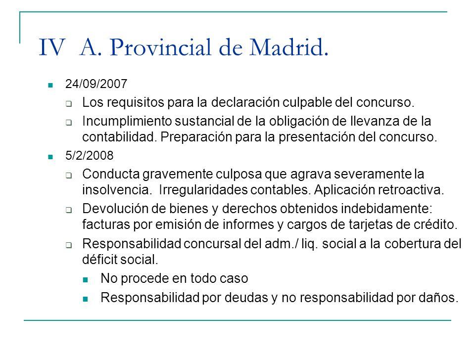 IV A. Provincial de Madrid.