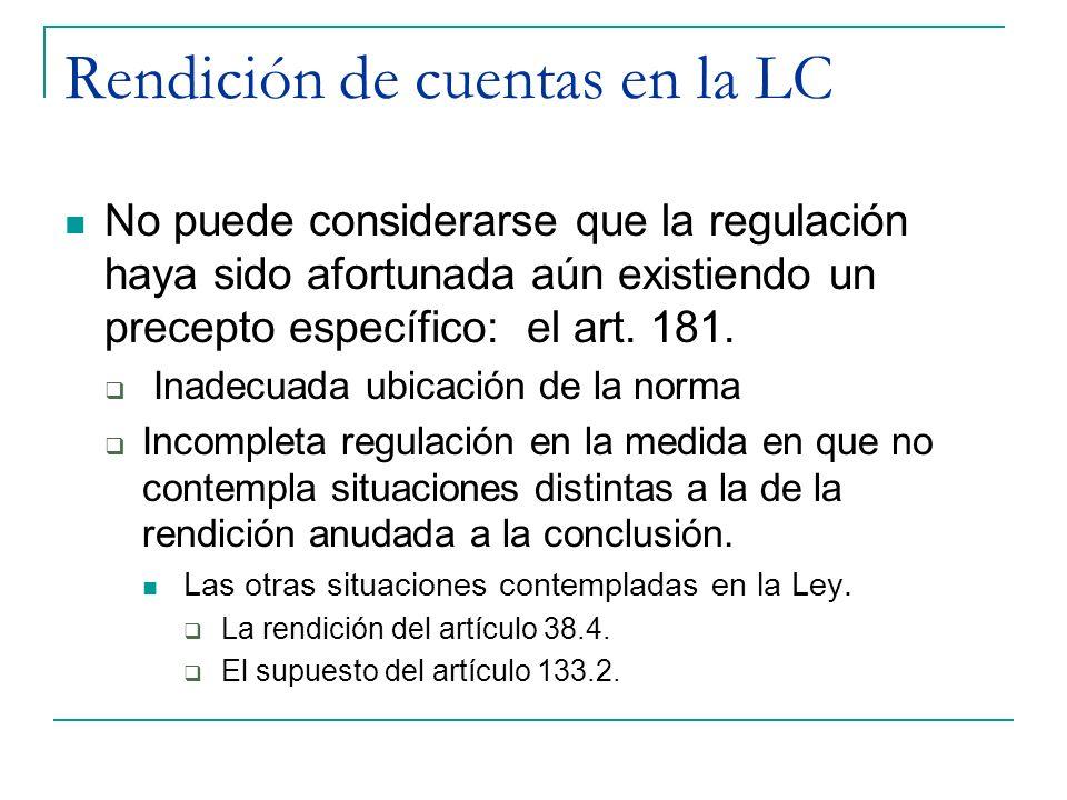 Rendición de cuentas en la LC