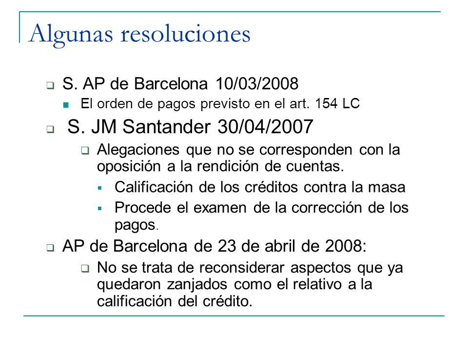 Algunas resoluciones S. AP de Barcelona 10/03/2008