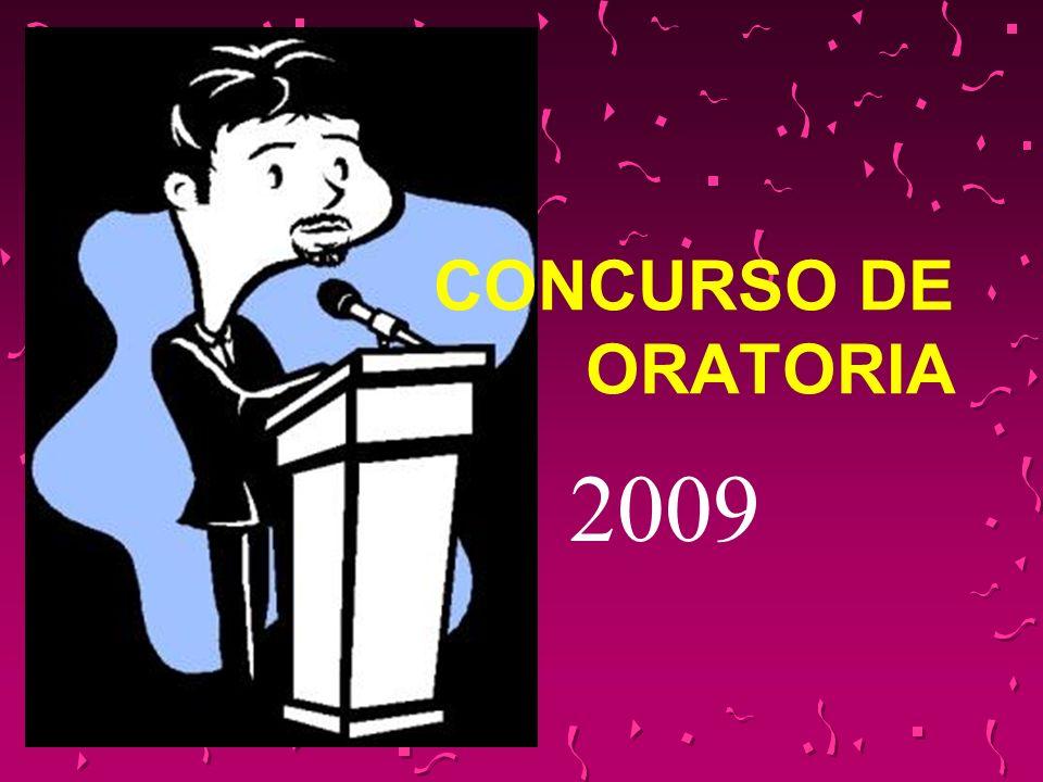 CONCURSO DE ORATORIA 2009