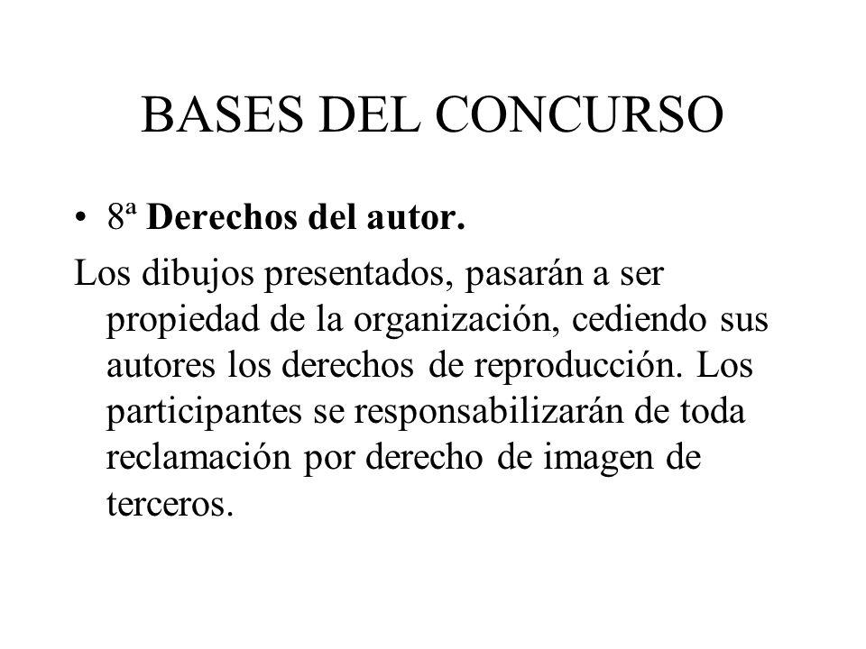 BASES DEL CONCURSO 8ª Derechos del autor.