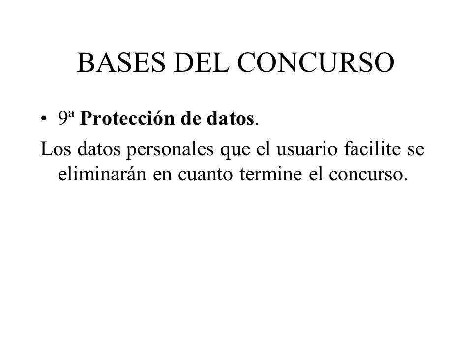 BASES DEL CONCURSO 9ª Protección de datos.