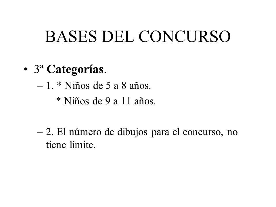 BASES DEL CONCURSO 3ª Categorías. 1. * Niños de 5 a 8 años.