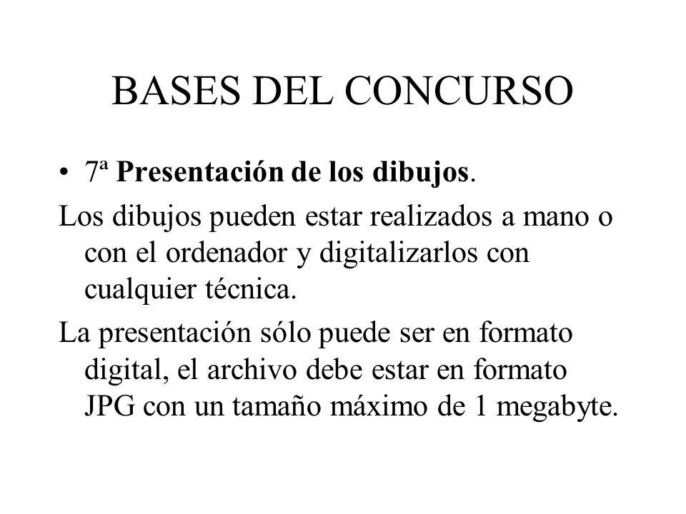 BASES DEL CONCURSO 7ª Presentación de los dibujos.