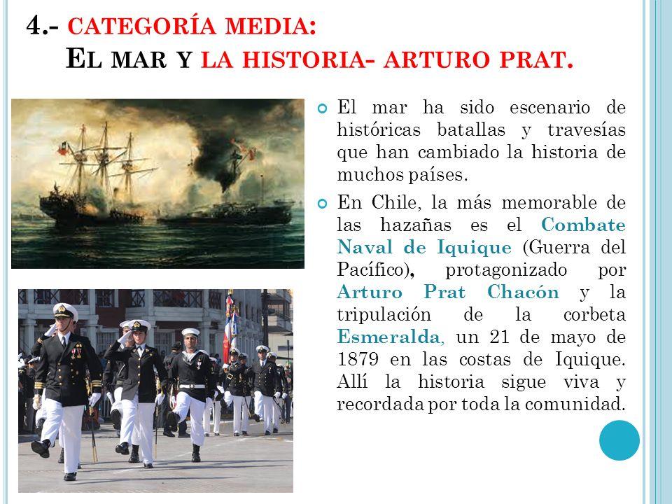 4.- categoría media: El mar y la historia- arturo prat.