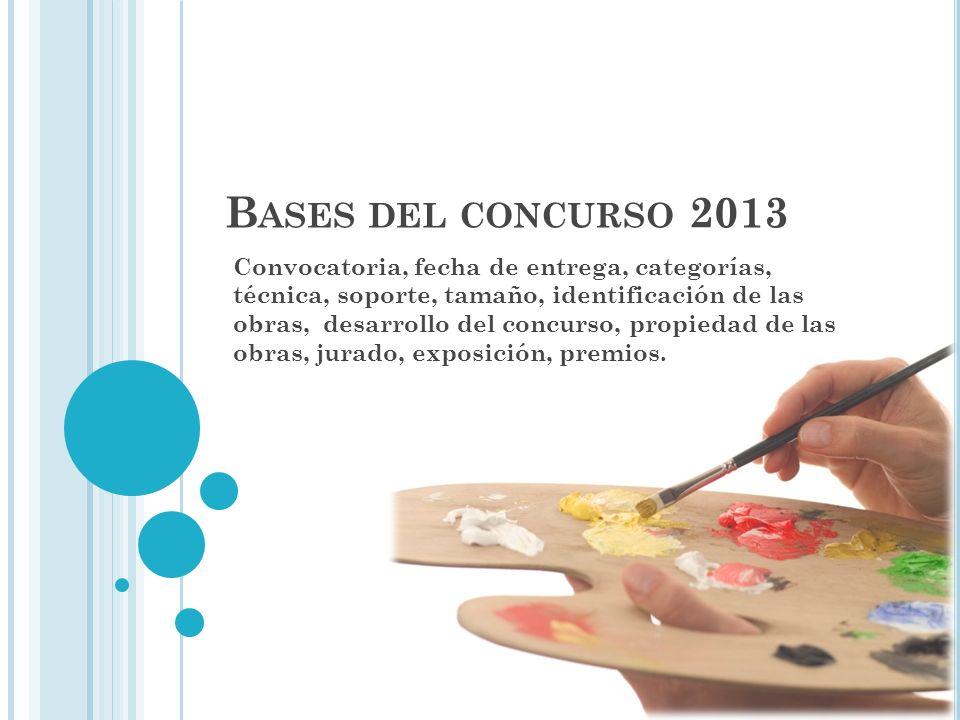 Bases del concurso 2013