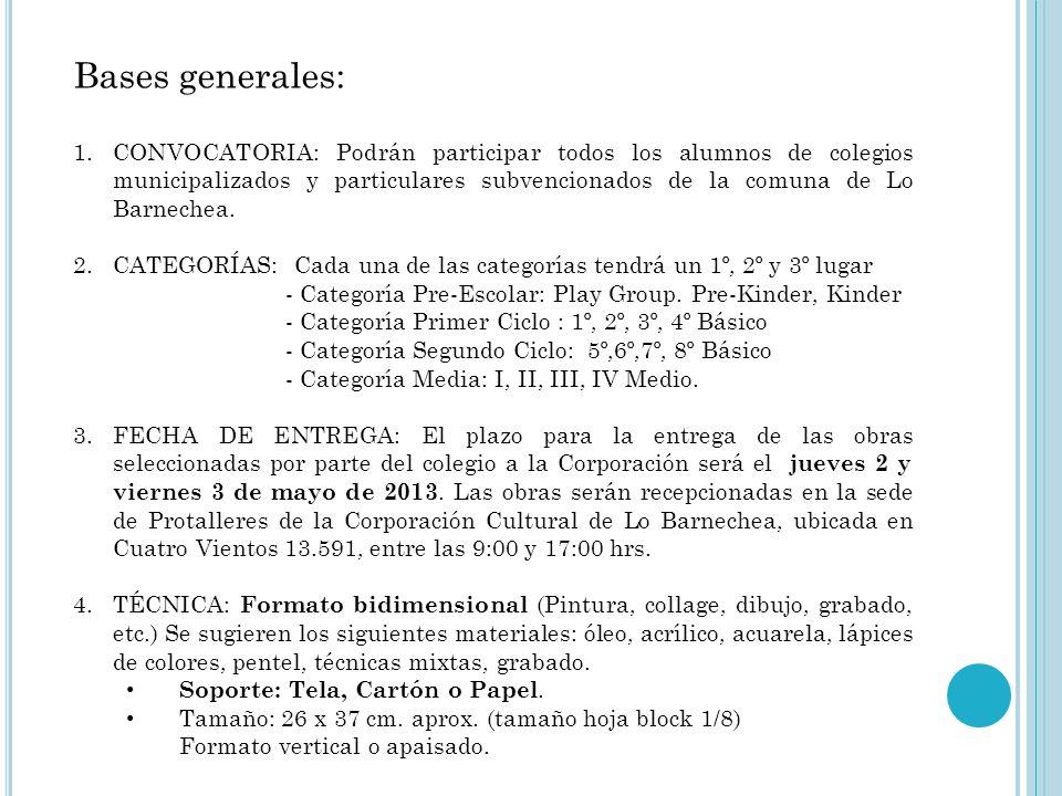 Bases generales: