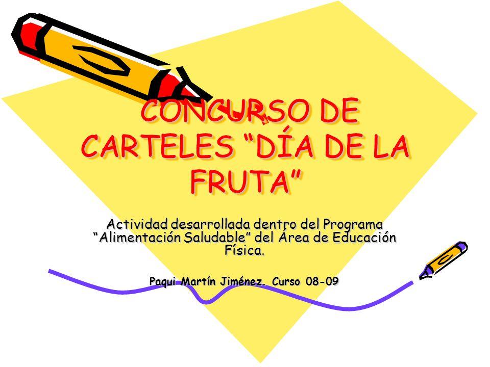 CONCURSO DE CARTELES DÍA DE LA FRUTA
