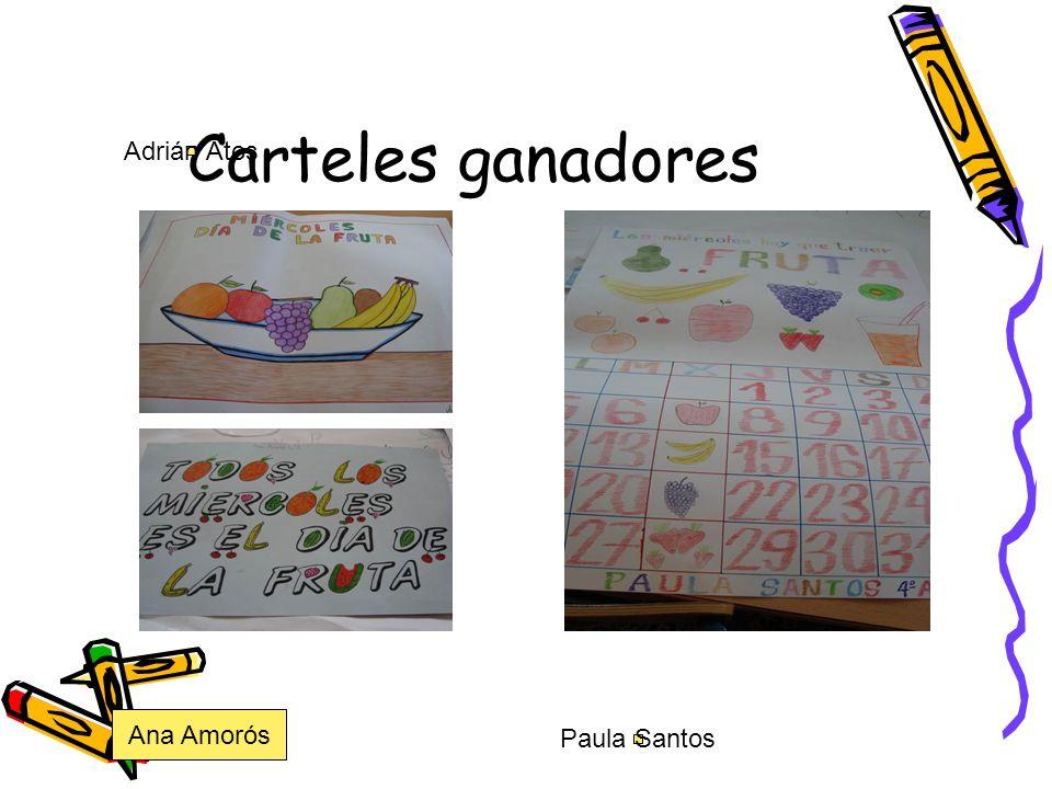 Carteles ganadores Adrián Atos Ana Amorós Paula Santos