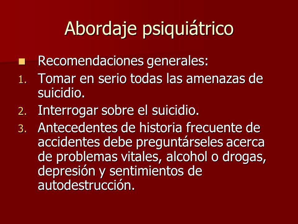 Abordaje psiquiátrico