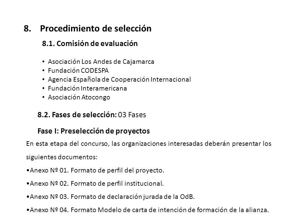8. Procedimiento de selección
