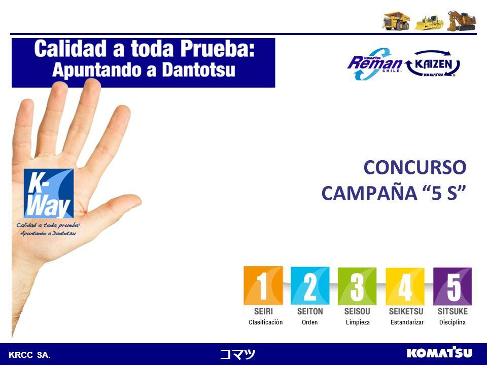 CONCURSO CAMPAÑA 5 S Clasificación Orden Limpieza Estandarizar