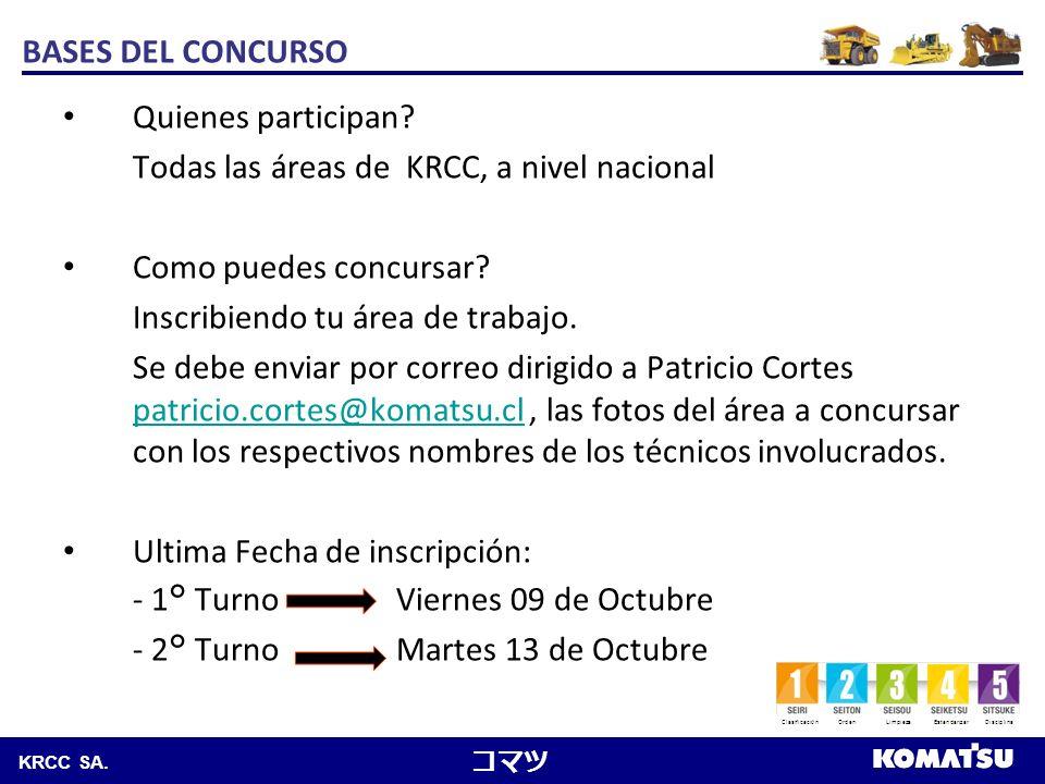 BASES DEL CONCURSO Quienes participan Todas las áreas de KRCC, a nivel nacional. Como puedes concursar