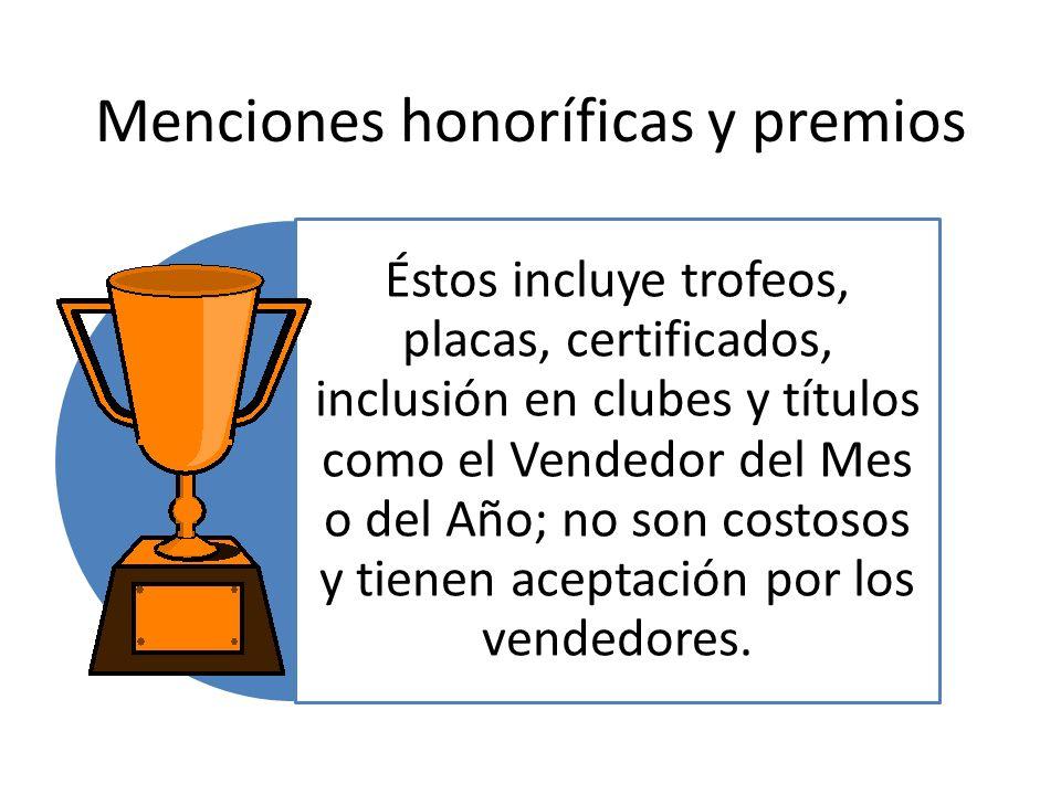 Menciones honoríficas y premios
