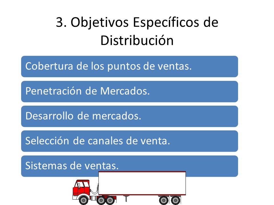 3. Objetivos Específicos de Distribución