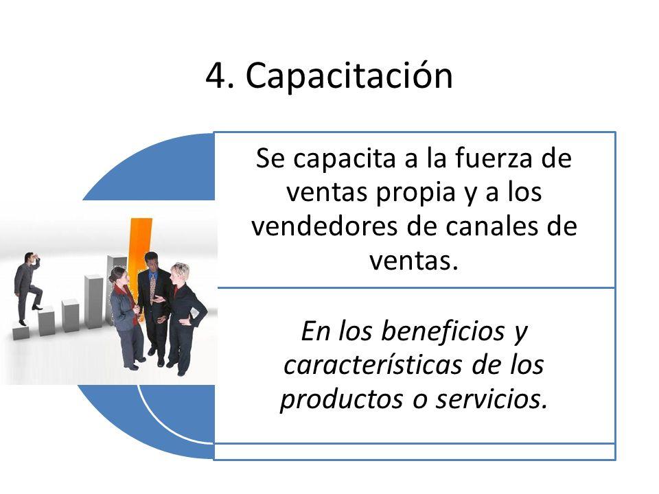 En los beneficios y características de los productos o servicios.