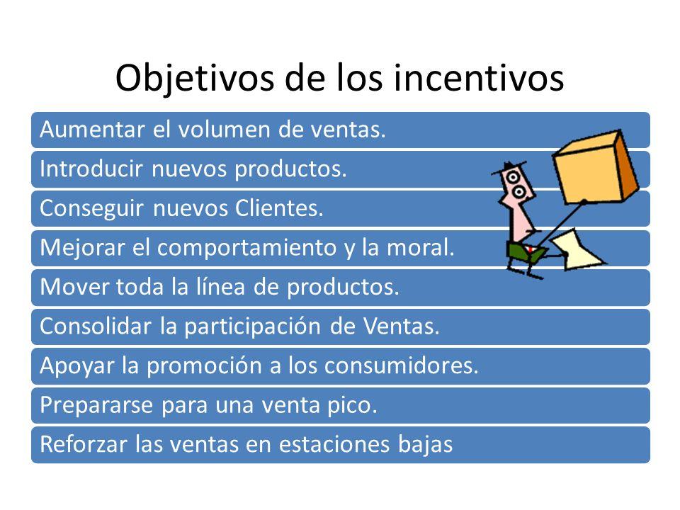 Objetivos de los incentivos