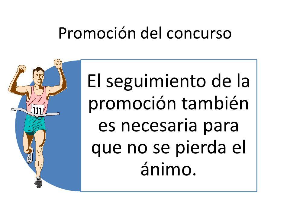 Promoción del concurso