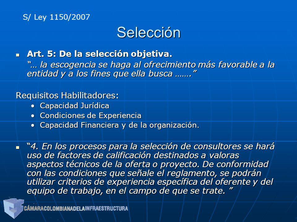 Selección Art. 5: De la selección objetiva.