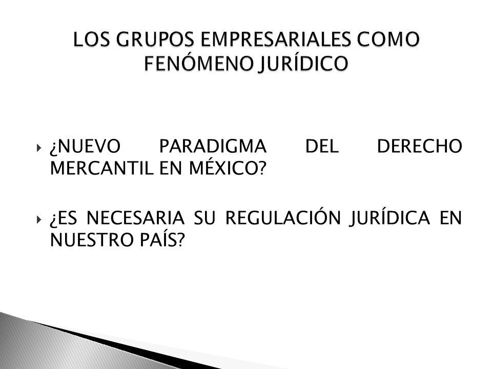 LOS GRUPOS EMPRESARIALES COMO FENÓMENO JURÍDICO